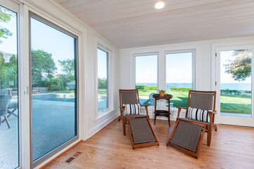 Family Room Overlooking Lake Michigan