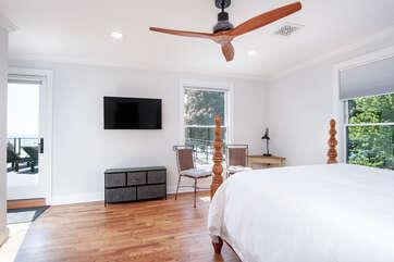 Second Floor Bedroom w/TV & Patio Access