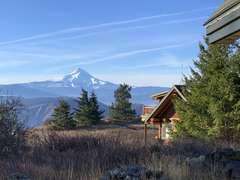 Mt Hood from Vista Cabin front porch