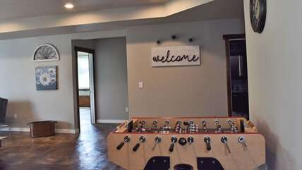 Foosball table - perfect for the kids to play downstairs