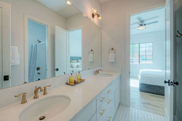 The 4th bathroom is popular Jack and Jill style and is shared between 4th and 5th bedrooms