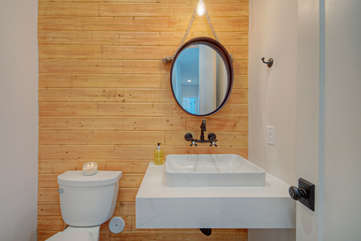 Powder room is an appreciated convenience when guests come to call