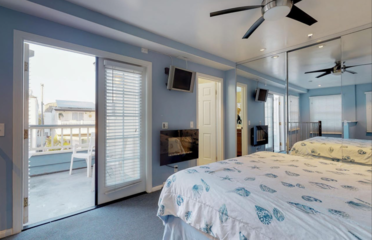Master bedroom includes private balcony!