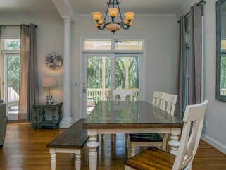 Dining room with access to screened porch