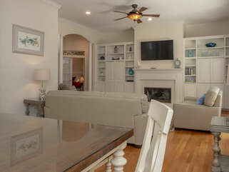 Dining room is adjacent to living area