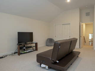 Second level guest suite with HDTV