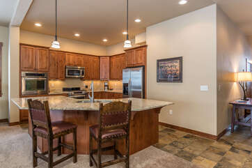 Whip up meals while enjoying the open floor plan of Moraine Circle