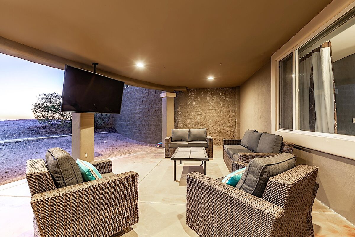 Seating area on lower level patio
