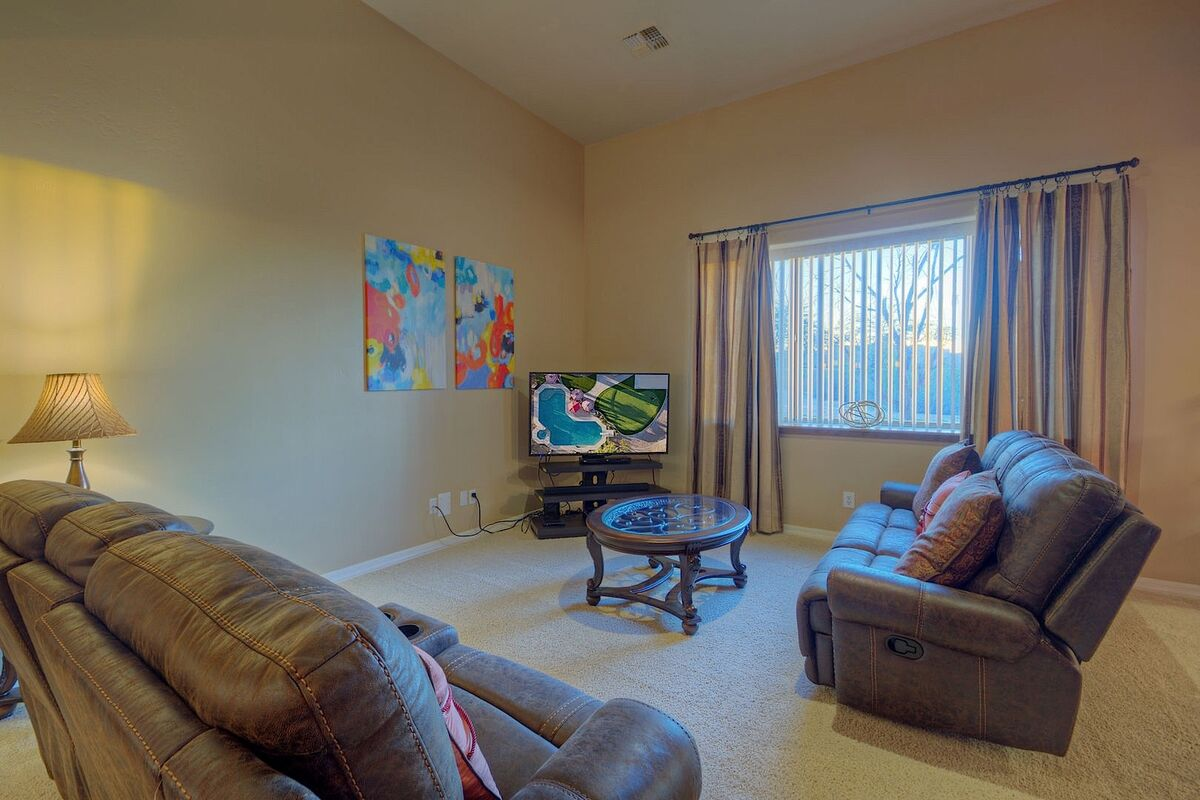 Living room on a lower level
