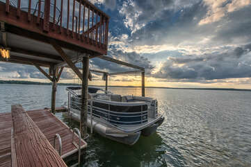 Unforgettable sunsets, available right on the dock or backyard from All Decked Out!