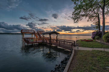 Sunsets like no other!  Lake Norman provides natural beauty.