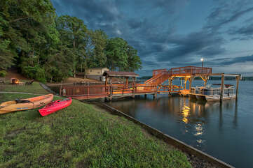 Stormy nights on Lake Norman even make for beautiful backdrops!  Family Photos are perfect lakeside or even on the dock! Inquire for photographer recommendations!