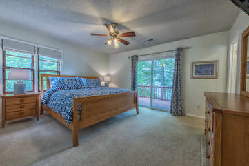 Master Bedroom on main level - king bed.