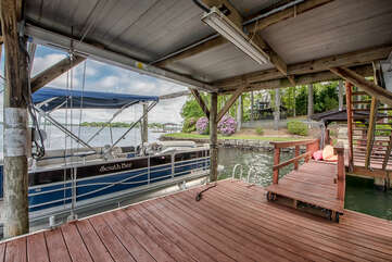 2-story dock!  Boat for rent, please inquire.