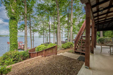 Lake Level patio, with seating for family cookouts!