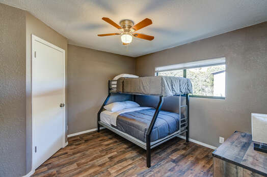 Casita Bedroom with Twin over Full Bunk Bed and Access to Full Shared Bath