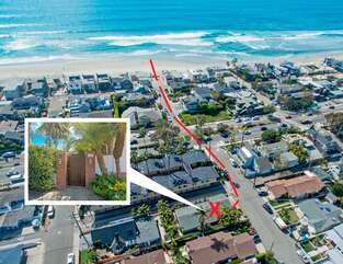 The Sandpiper at 26th Street is a one block walk to beach access!