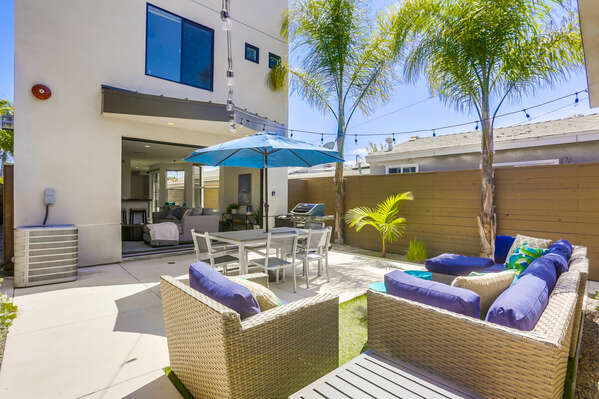Back Patio with Outdoor Living & Dining