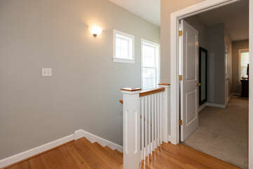 staircase to master suite