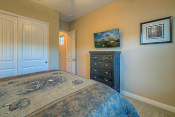 The fifth bedroom also has a king bed and television making all sleeping options desirable