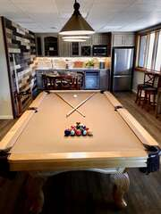 Renovated Downstairs and Pool Table