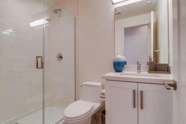 Full Bath in Hall, 2nd Floor
