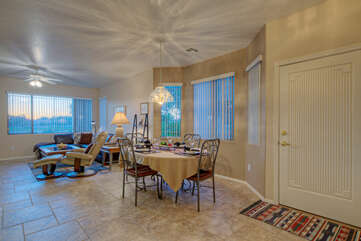 Home is open and bright with stellar views of the adjacent Alta Mesa Golf Course