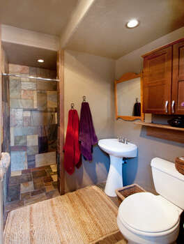 Full Bath with a Tile Shower