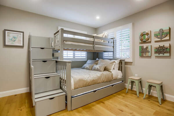 Bunk Room, Full Twin Bunk with a Trundle - First Floor