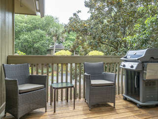 Rear deck with propane grill