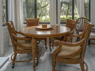 Sun room dining or game table with seating for 4