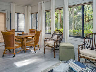 Large sun room is the perfect place to relax