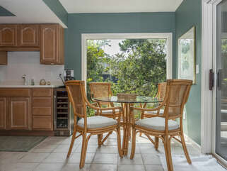 Dining area in kitchen with seating for 4 and beautiful views