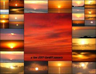 Several sunsets from 2017.