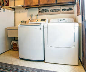 Downstairs washer and dryer.