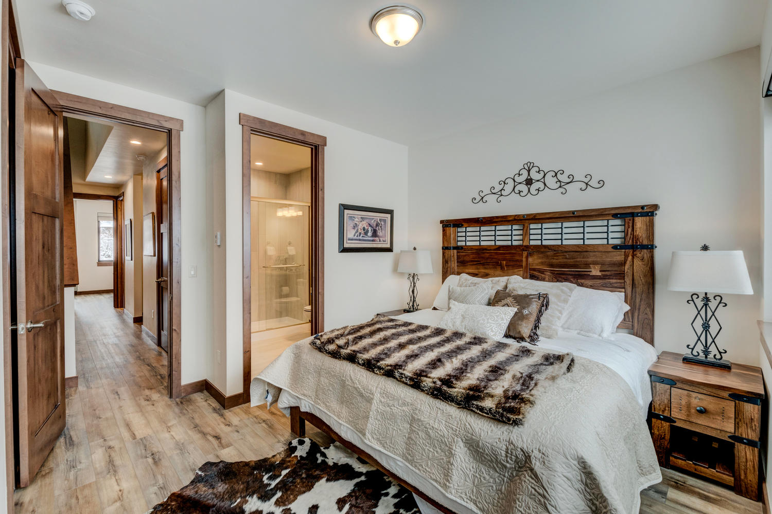 Master bedroom suite with private bathroom
