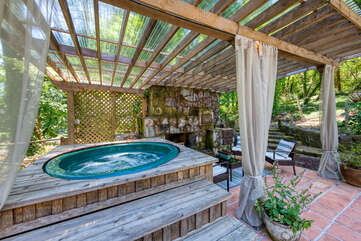 Unwind in the hot tub