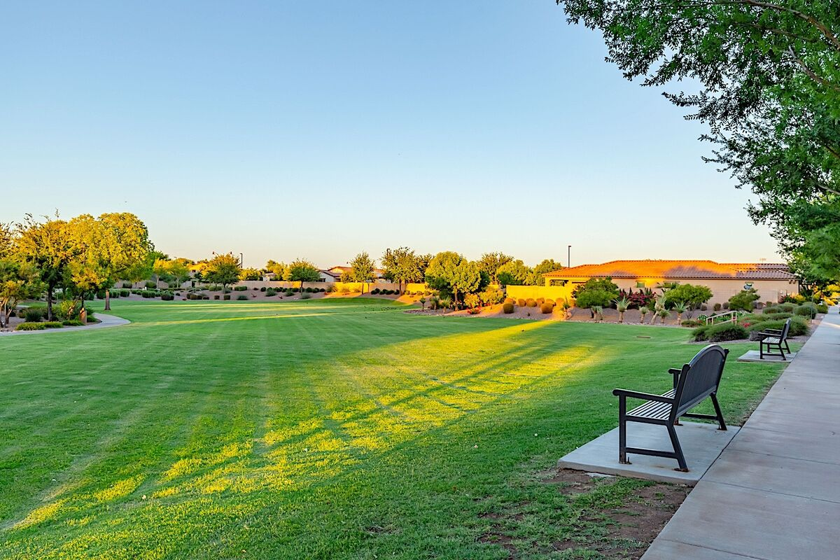 Large grassy areas for outdoor recreation