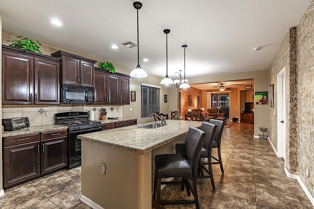 Open floor plan makes it easy to interact with guests