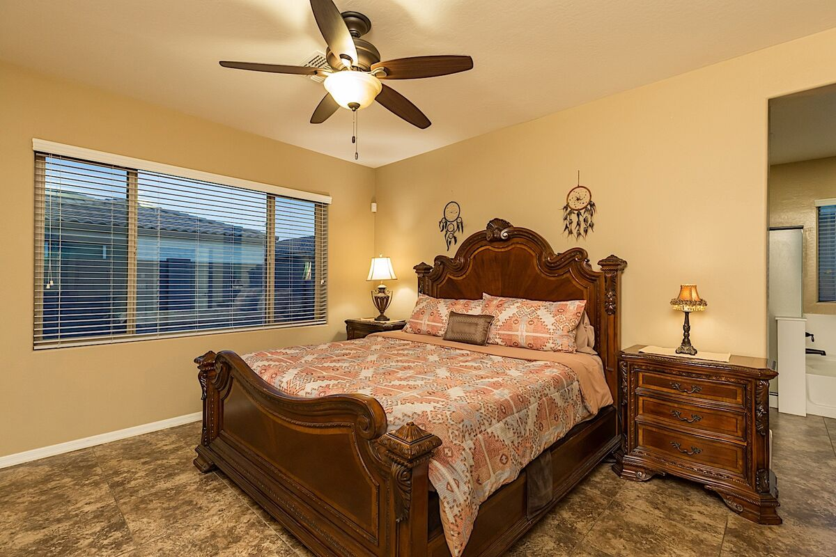 Master bedroom is spacious and comforting