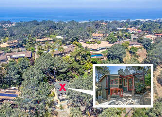 The Del Mar Tree House is located on the highlands of Del Mar, facing the San Dieguito Lagoon.