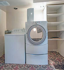 Washer and dryer on 1st Floor.