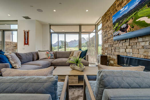 Sit Back in Comfort and Enjoy a Cozy Gas Fireplace, 65