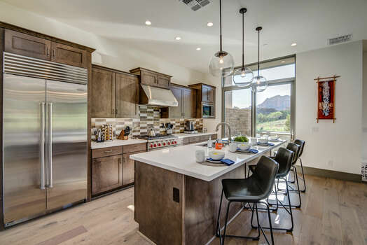 Gourmet Kitchen with New High-end Appliances and Patio Access