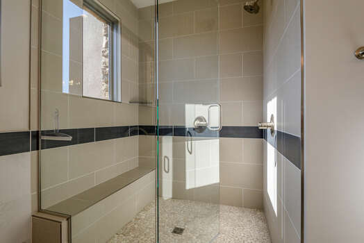 Large Tile and Glass Shower