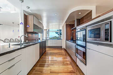 Large kitchen.