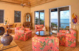 Inside living room with view to Rendevous Bay