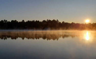 Sunrise views from the cottage, Tea Lake