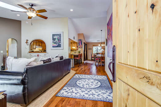 Beautiful Hardwood Floors Throughout and a Pass-Through Window from the Living Room