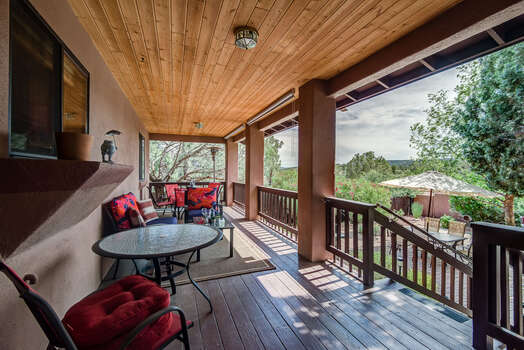 Rear Deck with Stunning Red Rock Views